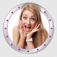 Alle Kontaktfotos im runden Fotorahmen - Mit dieser App ganz einfach!